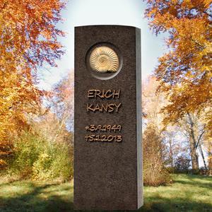 Memoria Vita Ammonit Gedenkstein für ein Einzelgrab - Granit