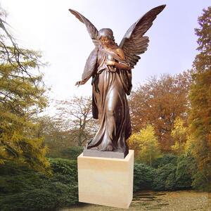 Engel Grabstein mit Palmwedel