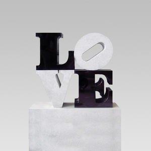Love Designergrabstein Doppelgrab Modern Black White Love