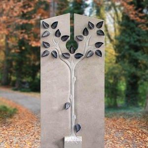 Bardi Doppelgrab Grabstein mit Lebensbaum Plastik