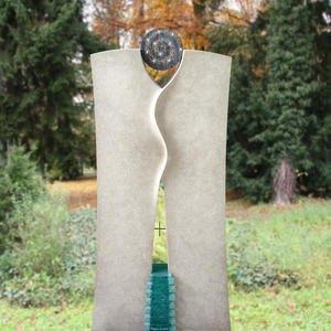 Lauris Doppelgrabstein mit Glas & Sternen