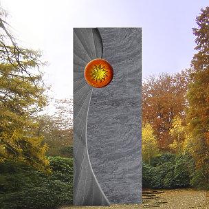 Solaris Grabstein mit Sonnenglas