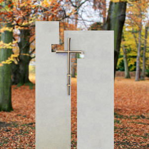 Laterano Doppelgrabstein moderne Grabsteinkunst mit Kreuz