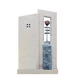 Bienno Einzelgrab Stele Gestaltung mit Rosen Symbol