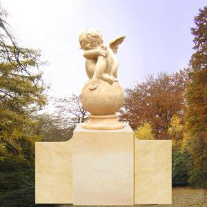 Serius Grabstein mit träumendem Engel