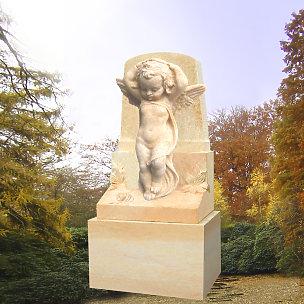 Janos Kindergrabmal mit Engelsknaben