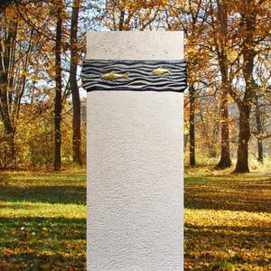Alphonse Exklusiver Einzelgrab Grabstein Naturstein mit Fischen