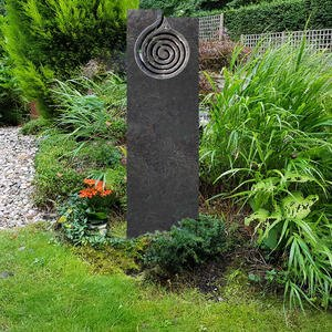 IL Turno Exklusiver Urnengrabstein Granit Spirale