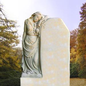 Ginevra Doppelgrabmal mit Frauenskulptur aus spanischem Sandstein