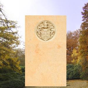 Heraldika Grabdenkmal mit Familienwappen