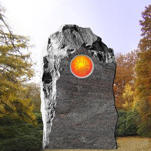 Grabstein Felsen mit Sonnenglas