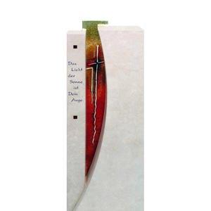 Severo Glasgrabstein Doppelgrab mit Farbigem Glas