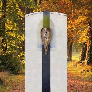 Serena Grabdenkmal Kalkstein mit Bronze Engel Statue Kaufen