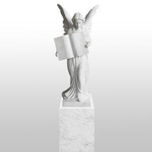 Teresa Grabdenkmal Marmor Weiss Grab Engel Statue