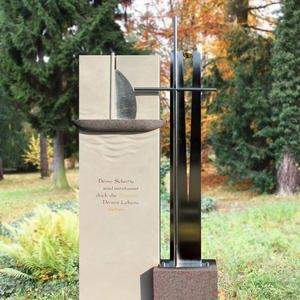 La Vela Crux Grabdenkmal Modern Edelstahl Kreuz & Boot