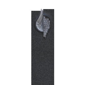 Fleurie Grabmal Einzelgrab Schwarz mit Engelsflã¼gel