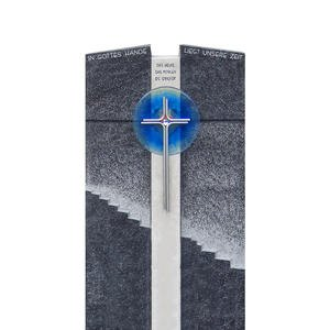Ravenna Grabmal Granit Blaues Glas Treppe & Kreuz
