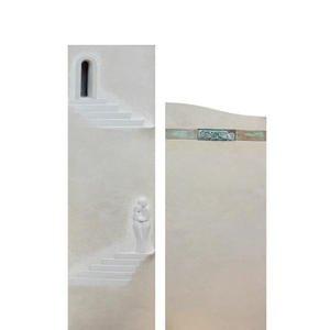 Addio Grabmal Naturstein mit Ornamenten & Relief