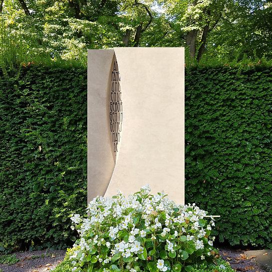 Mondrian – Grabmal Naturstein modern für ein Einzelgrab