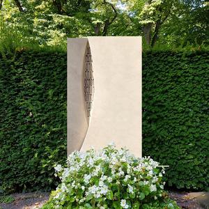 Mondrian Grabmal Naturstein modern für ein Einzelgrab