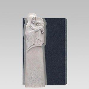Aspetto Deus Grabmal Urnengrab Hell/dunkel mit Maria & Kind Plastik