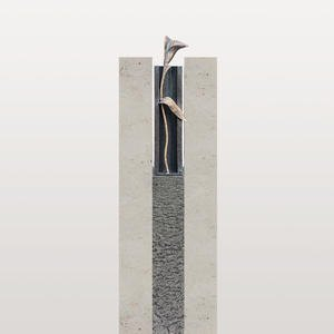 Casato Nova Grabmal Urnengrab mit Bronze Callas