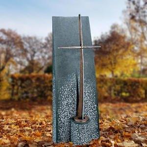Ophir Grabmal Urnengrab mit Bronze Grabkreuz