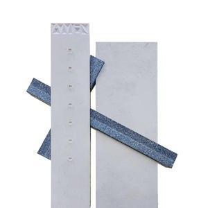 Carso Grabstein Doppelgrab Modern mit Kreuz