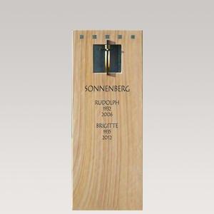 Savio Grabstein Doppelgrab Quarzit Holz Design