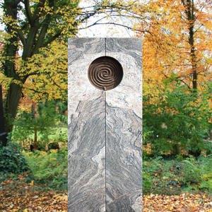 Voluta Grabstein Einzelgrab Spiral Muster mehrfarbig