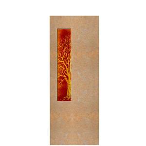 Albona Lignum Grabstein für ein Einzelgrab mit Glaseinsatz Lebensbaum