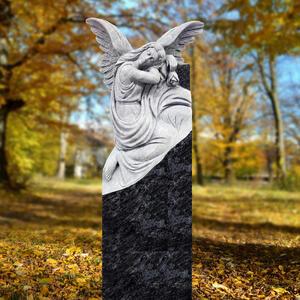 Lucia Grabstein Granit Engelgrabmal mit Engel Statue