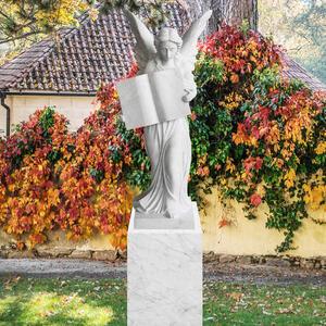Teresa Grabstein Grosser Marmorengel Weiss Fã¼r Friedhof