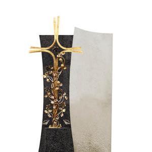 Forio Cruzis Grabstein mit Bronze Grabkreuz für Ein Einzelgrab in Granit/Kalkstein