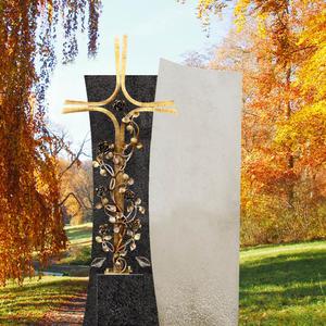 Forio Cruzis Grabstein mit Bronze Grabkreuz für Ein Urnengrab in Granit/Kalkstein