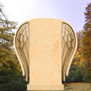 Serafinum Grabstein mit Engelsflügel
