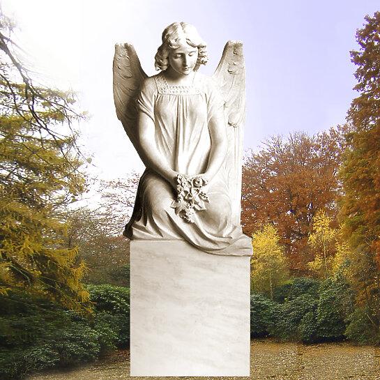 Grabstein mit Engelsfrau