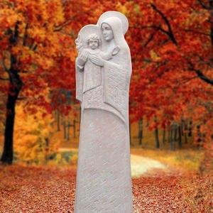 Aspetto Mater Grabstein Naturstein Hell Madonna Skulptur