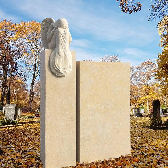 Mirabel – Grabstein Sandstein Modern Engel Statue