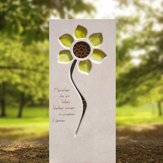 Helia Fiore – Grabstein Sonnenblume aus Glas