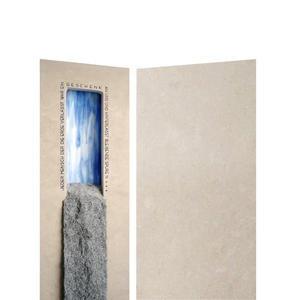 Fluis Petram Grabstein Stehend Naturstein Farbige Gestaltung