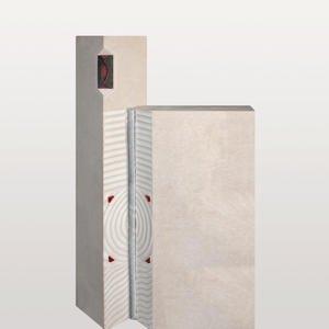 Fiorentino Grabstein Urnengrab Naturstein Modern mit Glas