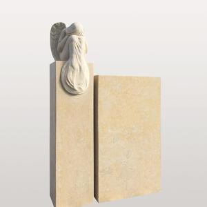 Mirabel Grabstein Urnengrab Zweiteilig Sandstein Engelfigur
