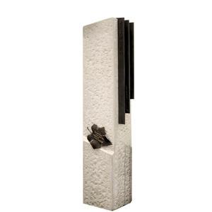 Baculus Grabstele für ein Einzelgrab aus Kalkstein/Bronze