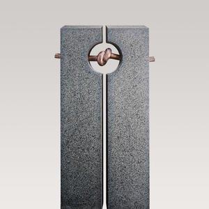 Legnano Granit Doppelgrab Grabmal mit Bronze Symbol Knoten