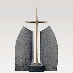 Ephraim Blanco Granit Doppelgrab Grabstein mit Grabkreuz Bronze