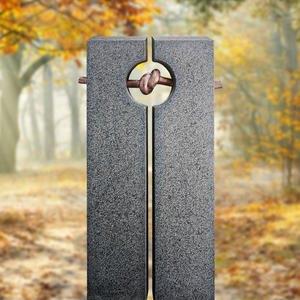 Legnano Granit Einzelgrab Grabmal mit Bronze Symbol Knoten