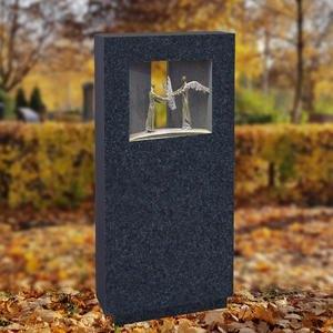 Spiritus Eridani Granit Einzelgrabstein mit Bronze Ornament Engel