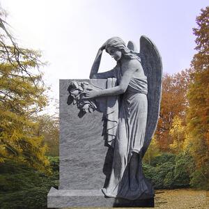 Grabstein Trauernde Engelsfrau