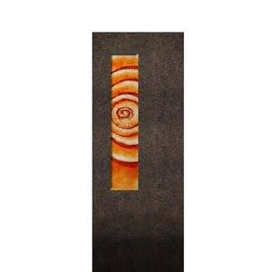 Albona Spiralis Granit Grabstein Glas Ornament Lebensspirale - Doppelgrab